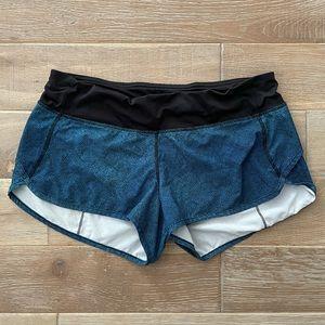 Lululemon Blue and Black Shorts